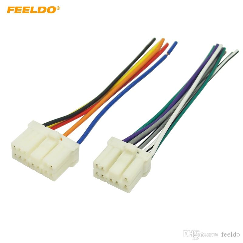 2019 FEELDO Car Radio Audio Wire Harness Aapter Male Plug For Geely