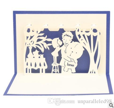 Father\u0027S Love,Hollowed Out, Paper, Small Cards, Creativity