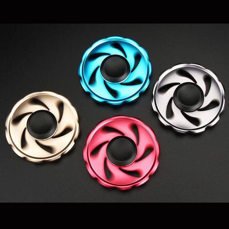 New Design Round Flywheel Metal Fidget Spinner Hand Spinner Tri