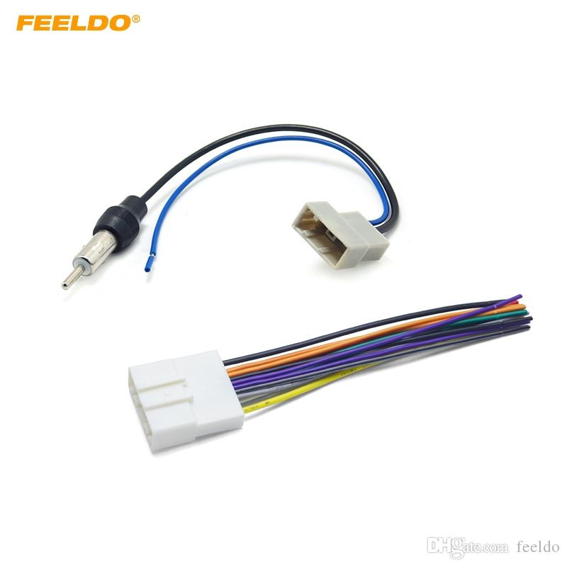 2019 FEELDO Car CD Audio Stereo Wiring Harness Antenna Adapter For