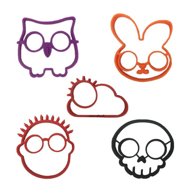 2018 /Set Owl Rabbit Skull People Sun Shapes Non Stick Silicone