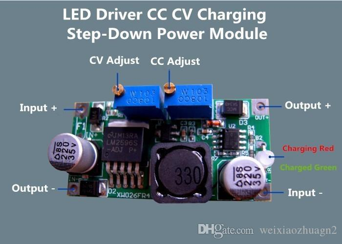 2019 LM2596 + LED Drive Constant Current Battery Charger Step Down
