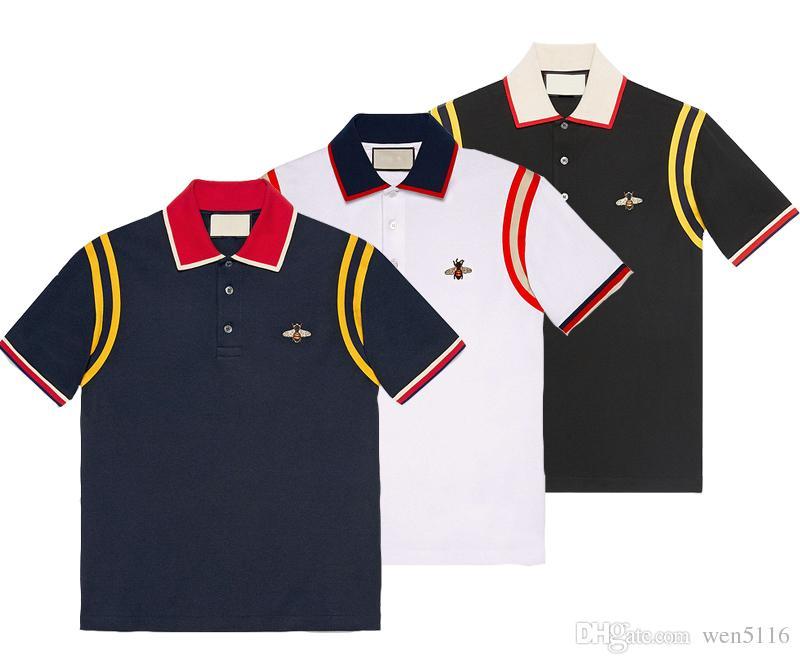 New Men\u0027s Casual Polo Shirt Luxury Designer Shirt Men\u0027s T-shirt