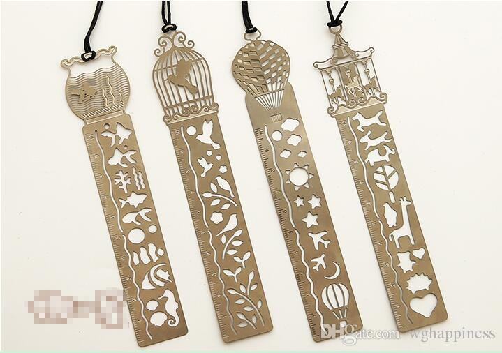 Hot Sales Cute Cartoon Hollow Out Metal Bookmark With Scale