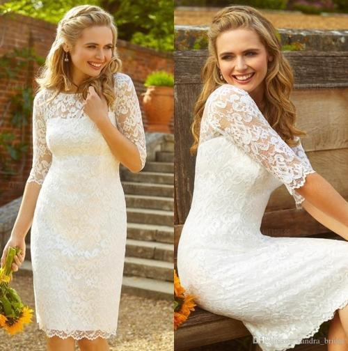 Medium Of Knee Length Wedding Dresses