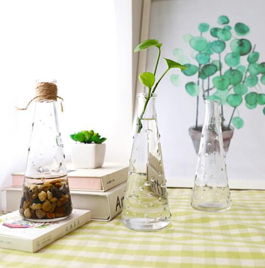 INS Pearl Bubble Design Transparent Glass Vase Glass Bottle Hydronic