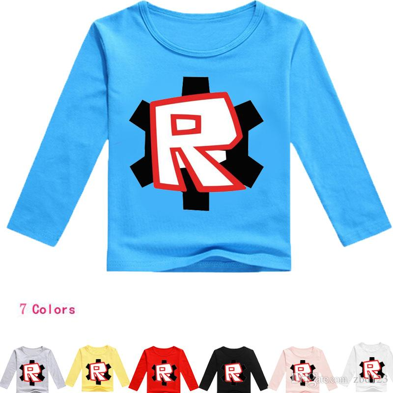 2018 Girls Cartoon ROBLOX Pink T Shirts Kids Spring Clothes Children