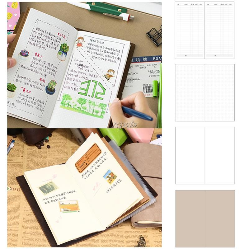 2019 Kraft Paper NotAccount Book Dot Journal Diary Memo Blank Page