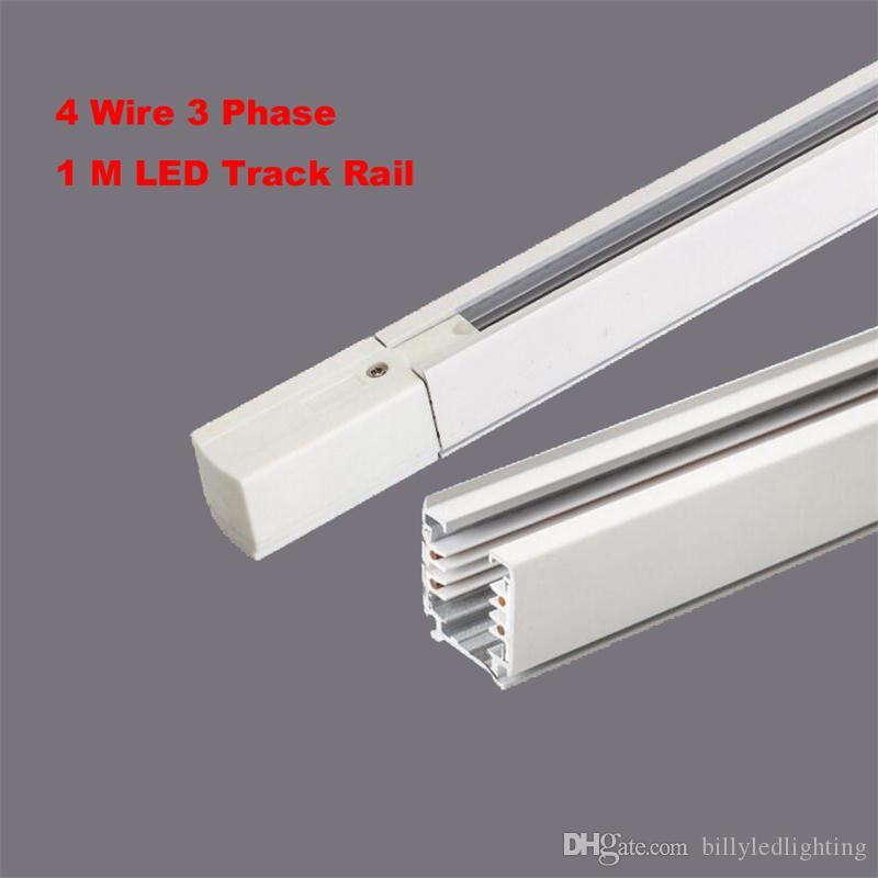 2019 Black White 1M 3 Phase Circuit 4 Wire Track Rail Track Surface