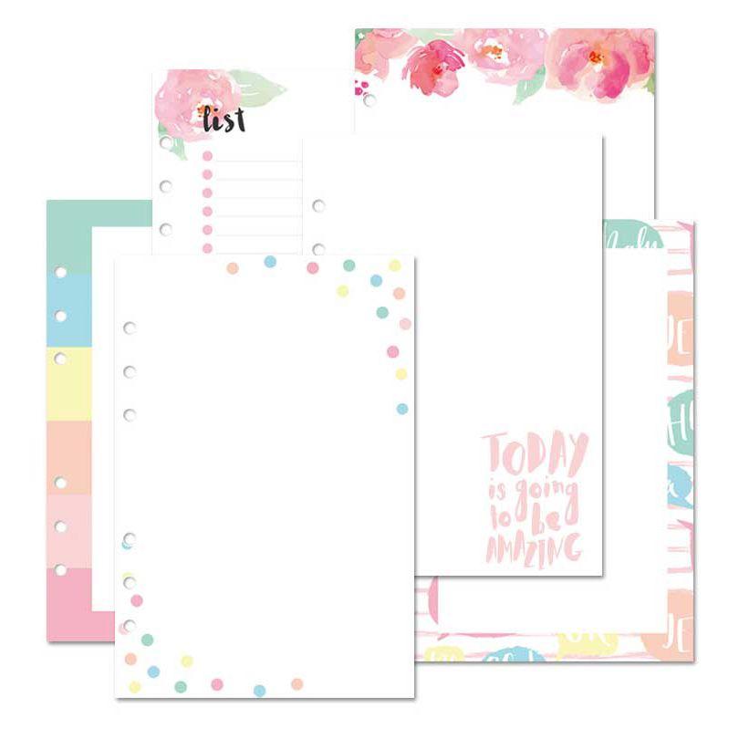 Lovedoki Korean A5 Binder Notebook Refill Creative Filler Paper For