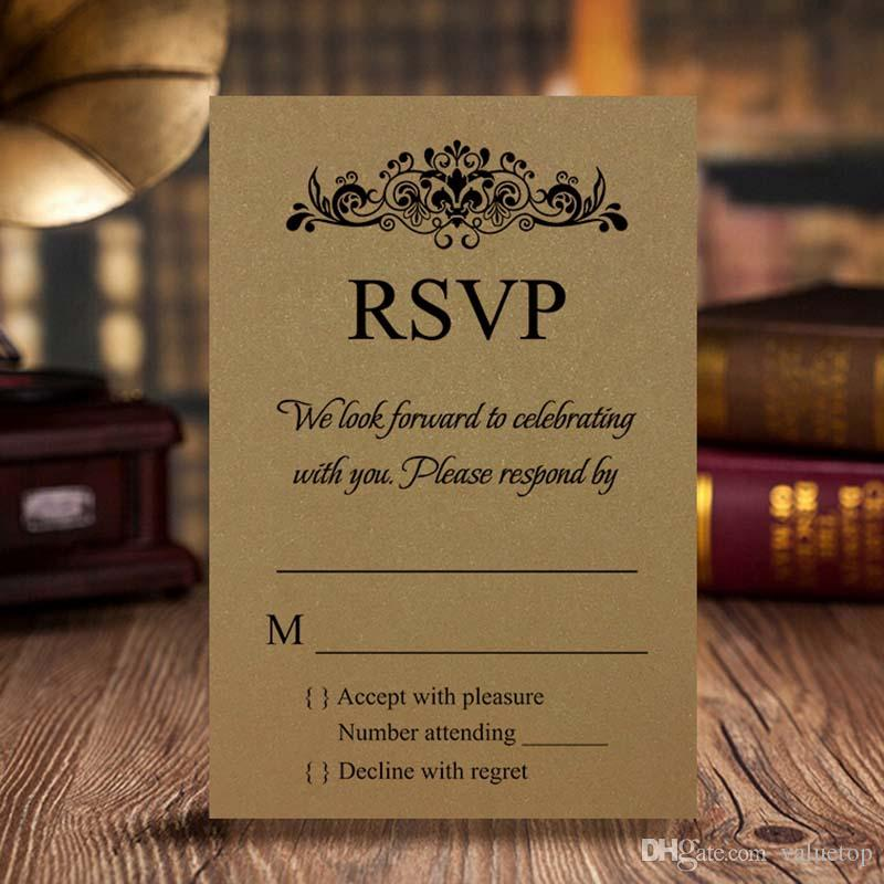 Personalized Rsvp Card/Response Card/Reception Card Support Free