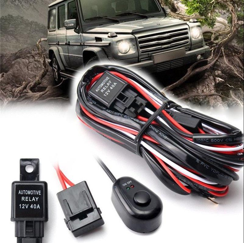 2019 LED Work Light Bar Cable Car Auto Off Road Driving Fog Light