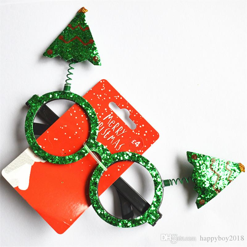 2019 Christmas Ornaments Glasses Frames Decor Evening Party Toy Kids