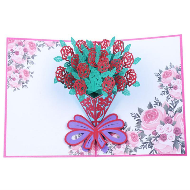 Valentine\u0027S Day 3D Love Pop UP Cards With Envelope Stickers Wedding