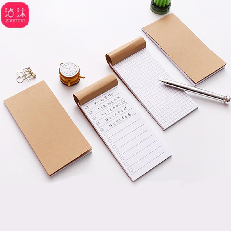 2019 Pocket Kraft Paper Memo Pad Notepad Stationery Scrapbooking