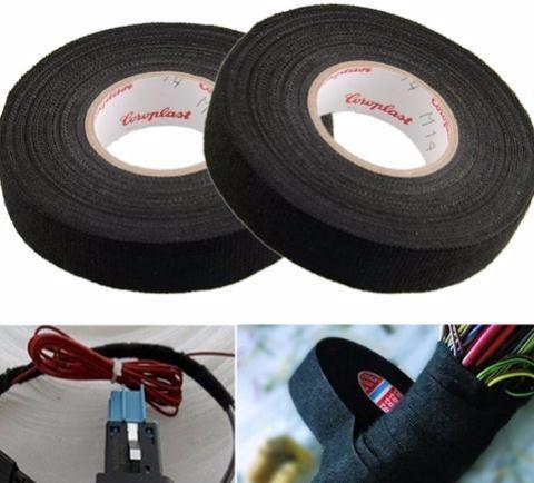 2019 Black Color 1Roll 19mm X 15M Wiring Harness Tape Strong