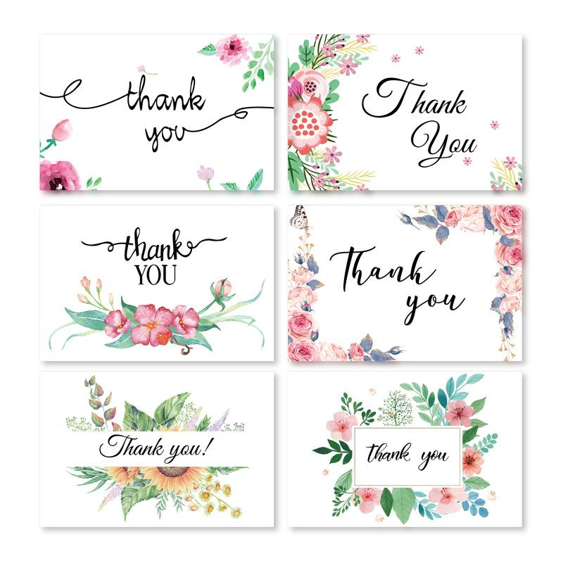 English Letter Mini Greeting Card Set Thank You Blessing Cards