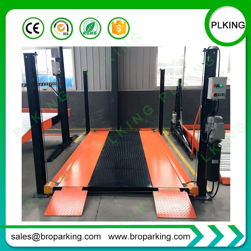 2019 PLKING Manual Release Hydraulic 4 Post Auto Parking Car Lift