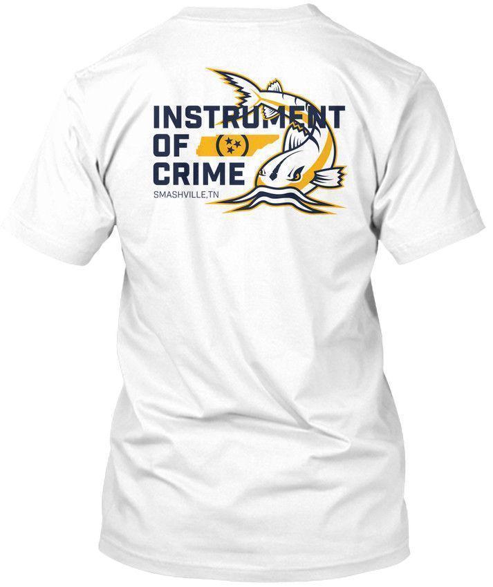 Instrument Of Crime Smashville Catfish Smashville, Hanes Tagless Tee