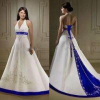 Vestido De Boda De Marfil De Color Azul Marino Suministro ...