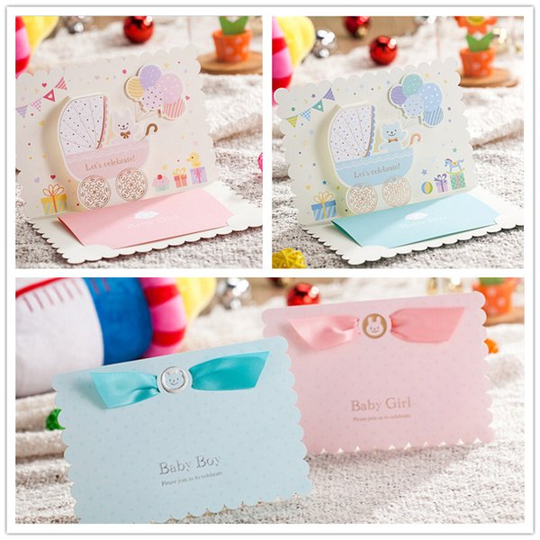 Wholesale Baby Shower Greeting Card Sample 3d Carton Birthday Party