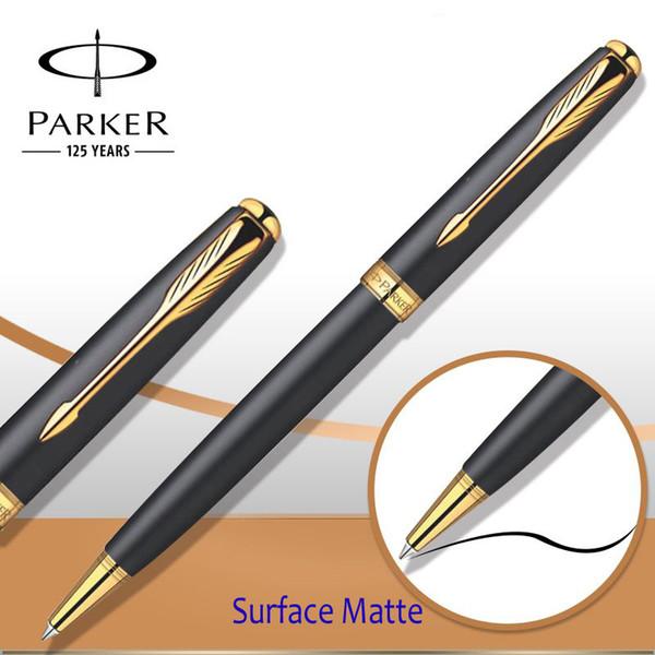Parker Sonnet Series Ballpoint Pen Silver / Golden Clip Parker Ball - ball office supplies