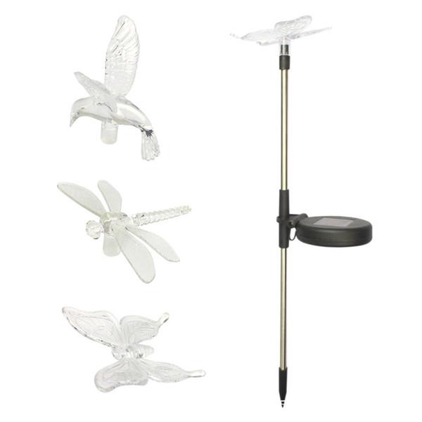 Großhandel Dragonfly \/ Butterfly \/ Vogel Led Solar Lampen Rasen - lampen ausen led