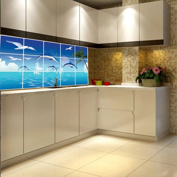 Großhandel Wasserdichte Badezimmer Küche Wandaufkleber Fliesen - badezimmer fensterfolie
