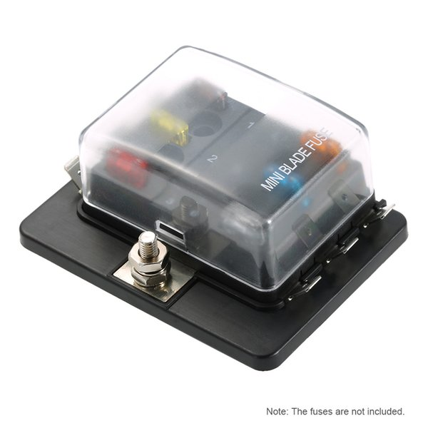 2019 6 Way Mini Blade Fuse Box Holder APM ATM 5A 10A 25A For