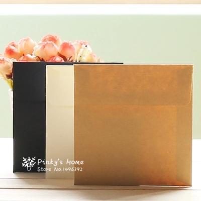 2019 10*10cm Kraft Square Mini Blank Envelopes For Membership Card