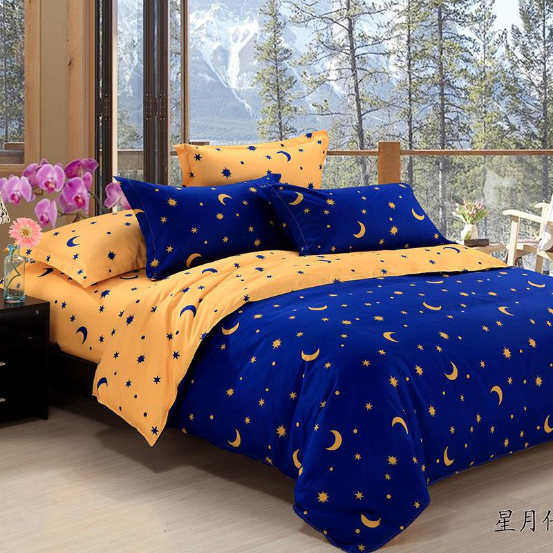 Home Textiles Star Moon Figure Bedding Sets Duvet Cover