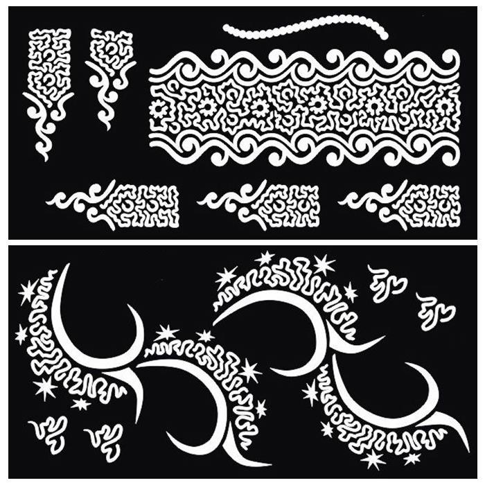 Wholesale Henna Tattoo Stencil For Glitter Tattoo Template - tattoo template