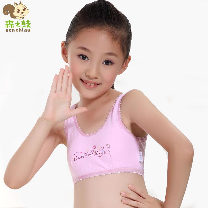 Wholesale-Girls Bra for Kids Puberty Cotton Without Rims Girl\u0027s Bra