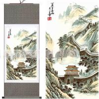 2018 Chinese Wall Art Paintings Silk Hanging Scroll ...