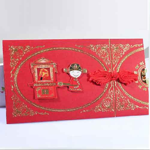 Chinese Invitation Cards Red Wedding Invitations With Envelope FFF