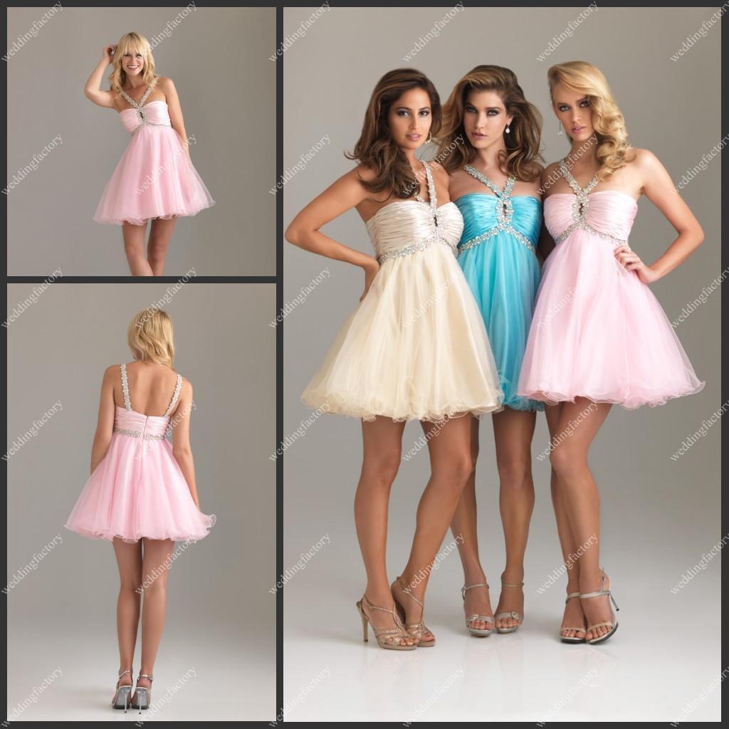Impressive Pink Halter Prom Dress Key Hole Mini Ruffles Low Back Beadedhot Selling Dress Prom Dresses Prom Dresses From Pink Halter Prom Dress Key Hole Mini Ruffles Low Back wedding dress Pretty In Pink Dress