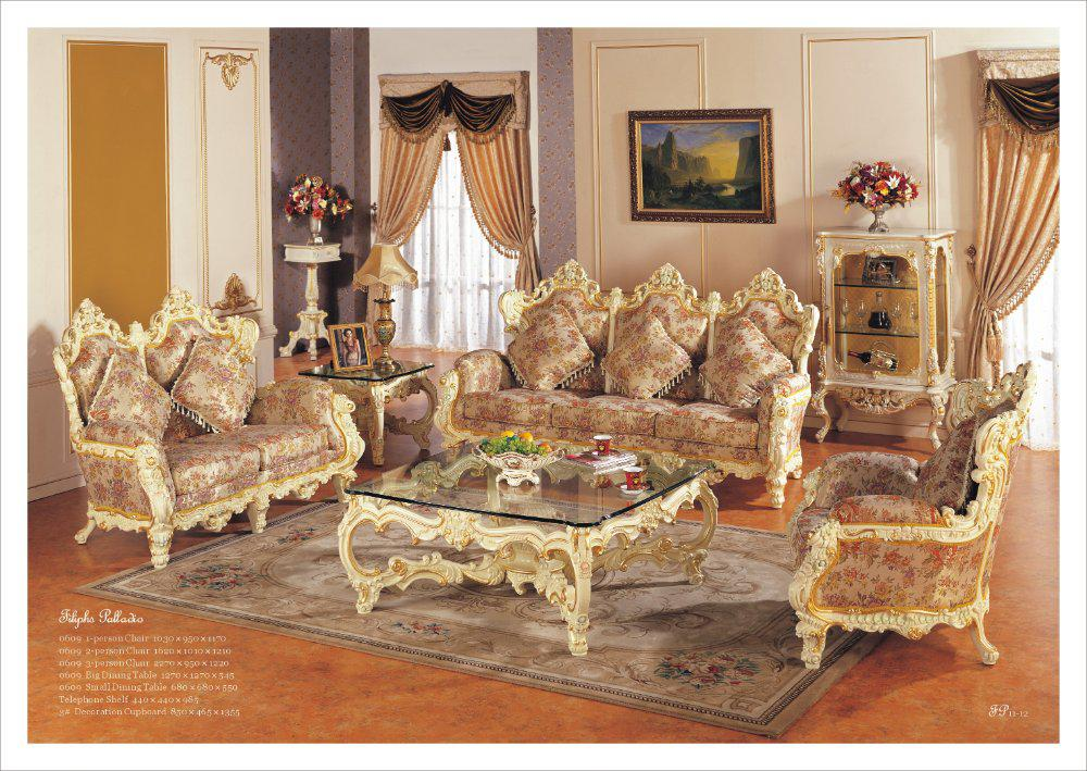 Hot Selling,Rococo Style Living Room Sofa Set, Palace Royal - cheap living room furniture stores