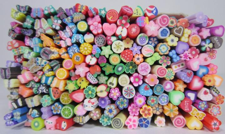 Nail Art Fimo Canes Rods Decoration Canes Polymer Clay