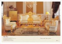 Classic Furniture Sofa Set - All Golden Solid Wood Living ...