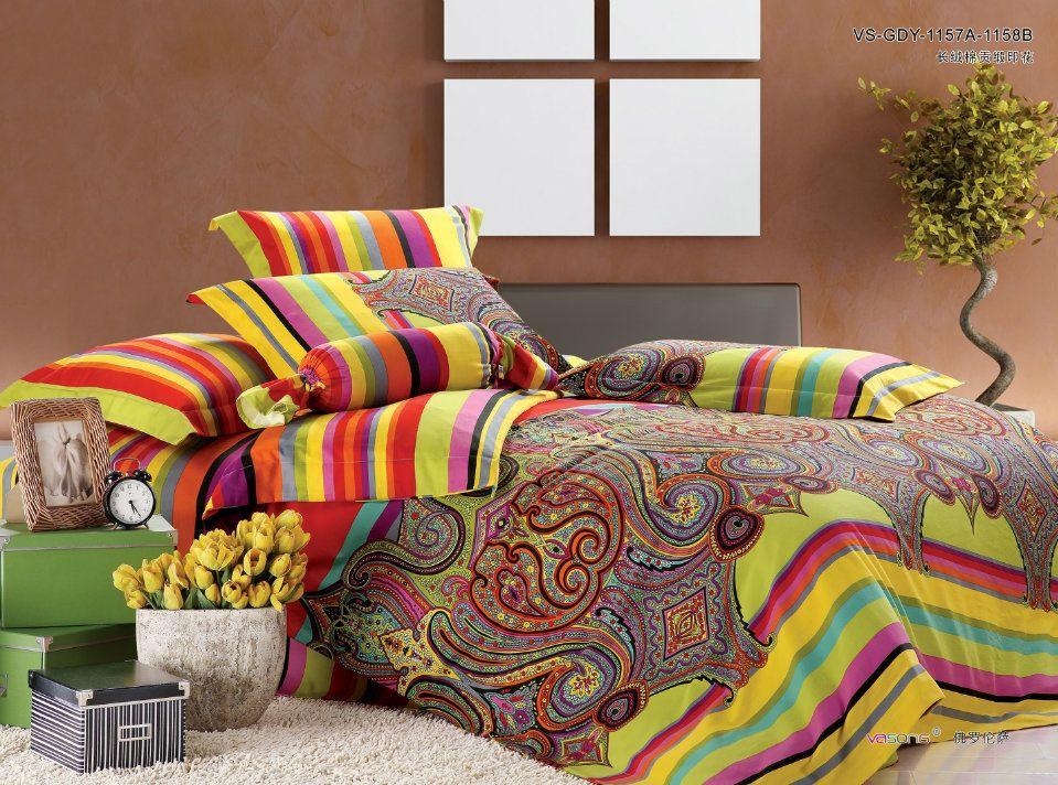 Luxury Egyptian Cotton Bedding Comforter Set Satin King