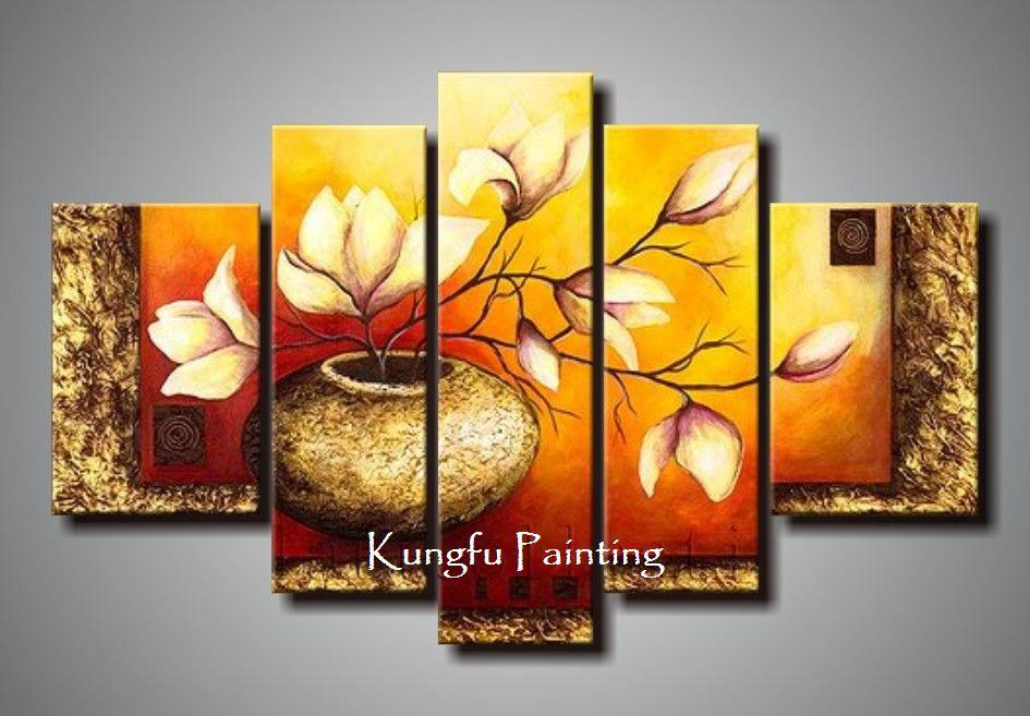 Online Cheap 100 Hand Painted Unframed Abstract 5 Panel Canvas - living room canvas art