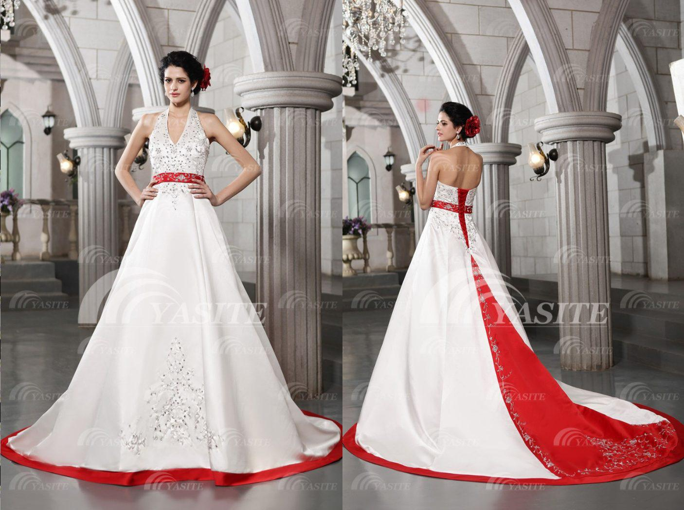red wedding gown wedding dresses with red image