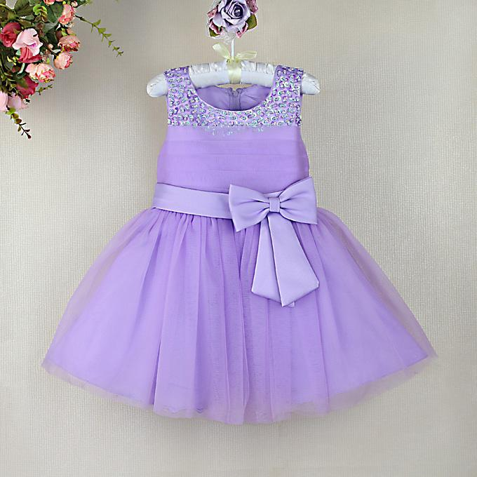 2018 2014 New Toddler Girl Dresses Purple Party Dresses