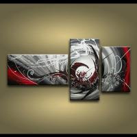 Framed 3 Panels 100% Handmade High End Large 3 Panel Wall ...