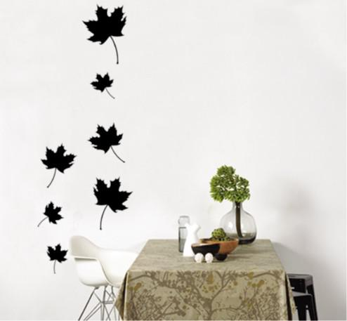 Wholesale Removable Maple Leaf Wall Stickers Living Room Wallpaper - large wall decals for living room