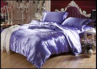 Purple Blue Mulberry Silk Satin Bedding Set Luxury King ...