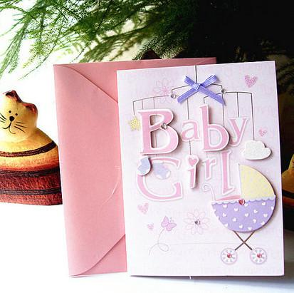 New Born Baby Greeting Card 12 Patterns Mixed Lovely 3d Baby Card - baby congratulation card