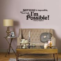 Nothing Is Impossible Vinyl Wall Lettering Stickers Quotes ...