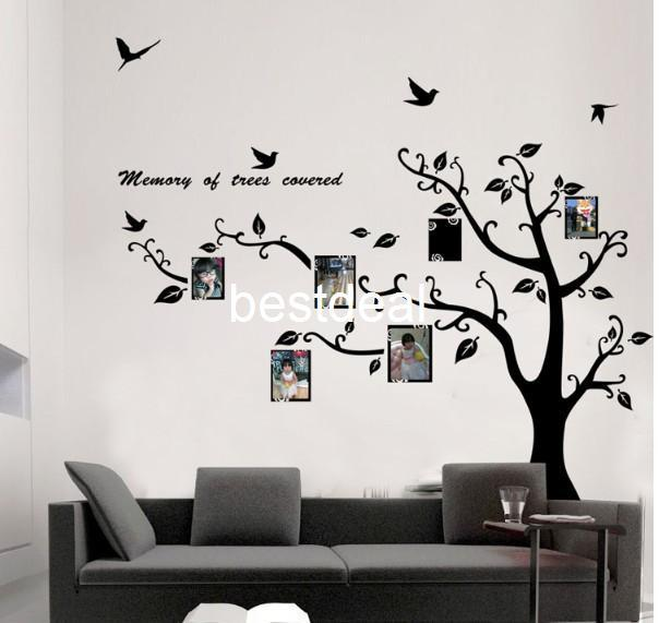 Extra Large 170x210cm Photo Frame Photo Memory Tree Removable Tree - large wall decals for living room