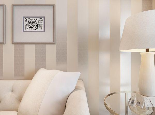3d Wave Flocking Wallpaper Non Woven Flocking Striped Wallpaper Bedroom Living Room